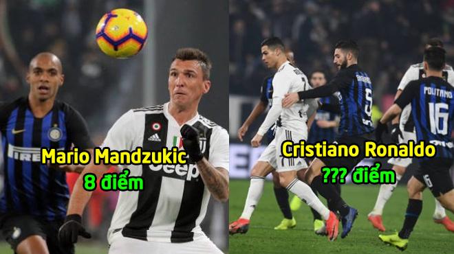 Chấm điểm Juventus ở đại chiến Inter: Điểm số khó tin cho CR7