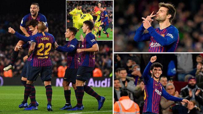 Messi tung đường dọn cỗ siêu hạng, Barca đánh chìm 'Tàu ngầm vàng', lấy lại ngôi đầu La Liga