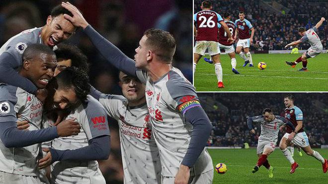 """""""Ông già"""" Milner nã đại bác thần sầu, Liverpool giành 3 điểm ấn tượng trước Burnley, áp sát ngôi đầu trên BXH"""