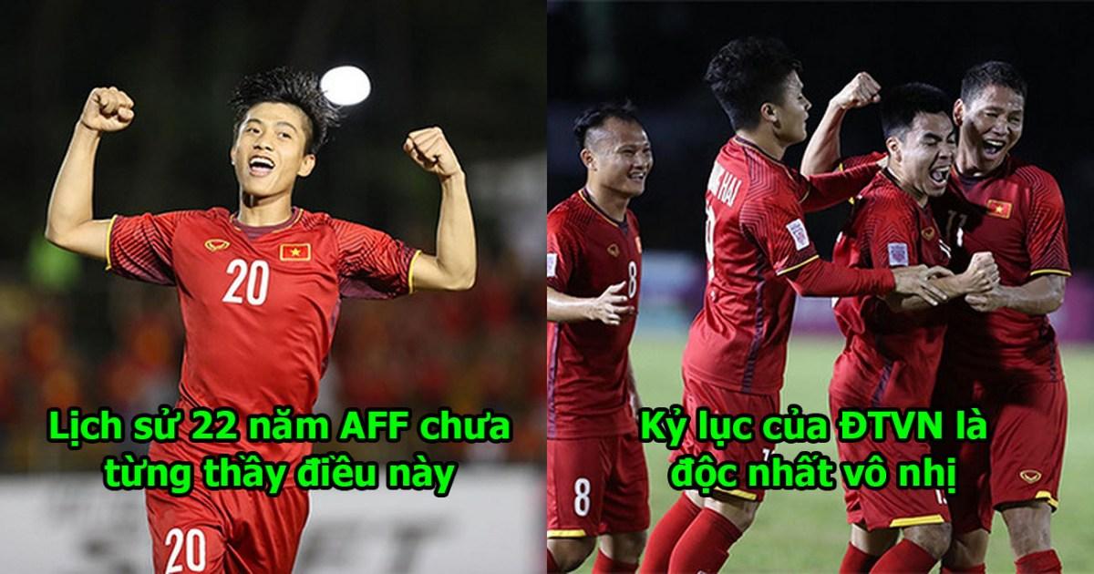 """Hành hạ Philippines """"lên bờ xuống ruộng"""", ĐT Việt Nam lập nên kỷ lục chưa từng có trong lịch sử AFF Cup"""