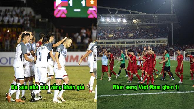 """Cầu thủ Philippines: """"Việt Nam làm thế nào mà có nhiều FAN đến cổ vũ thế? Chúng tôi có mơ cũng không được"""""""