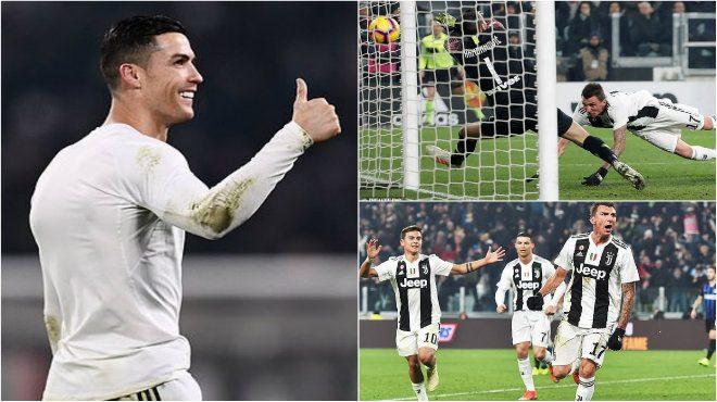 """Kết quả Juventus vs Inter Milan: Ronaldo tung hoành, """"s.á.t thủ"""" ra đòn quyết định"""