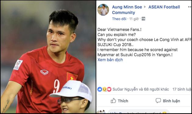 """NHM Đông Nam Á: """"Tại sao Việt Nam không chọn Công Vinh làm HLV trưởng nhỉ?"""""""