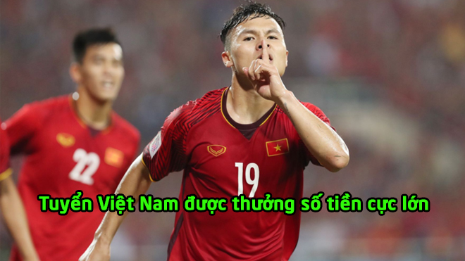 Vào chung kết AFF Cup 2018, tuyển Việt Nam nhận thưởng một khoản tiền khổng lồ