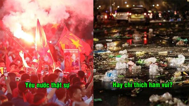 Hàng vạn người tập trung ở Mỹ Đình cổ vũ ĐT Việt Nam, tuy cuồng nhiệt nhưng lại thiếu ý thức như thế này đây