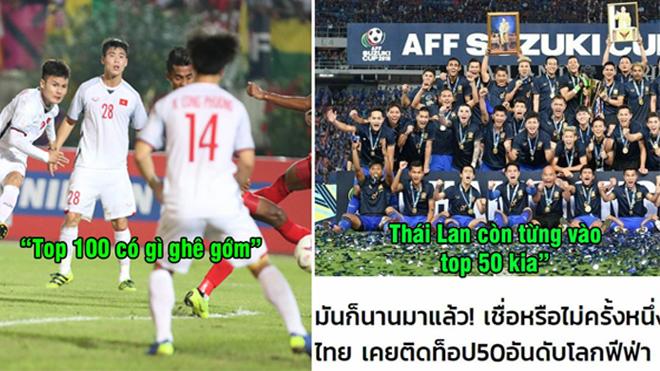 Hít khói Việt Nam trên BXH FIFA, báo Thái Lan lại dở thói ghen ăn tức ở như thế này đây!