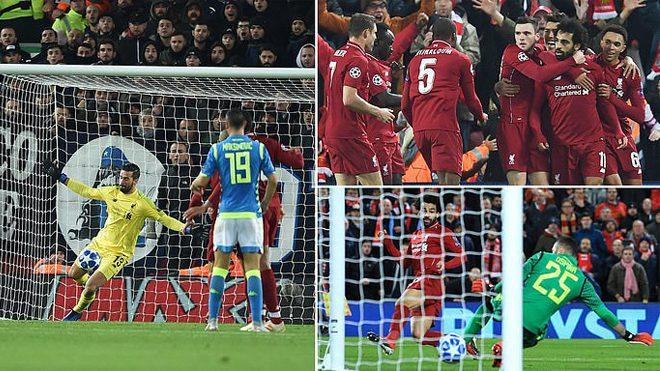Kết quả Liverpool vs Napoli: Vua Ai Cập xuất thần; định đoạt vé vàng