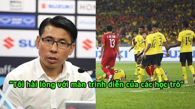 HLV Tan Cheng Hoe hài lòng với trận hòa trước ĐT Việt Nam, tự tin sẽ chiến thắng ở trận lượt về