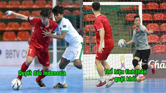 Liên tiếp bị Indonesia vượt lên dẫn trước, Việt Nam vẫn tạo ra kết quả không tưởng ở giải đấu futsal châu Á
