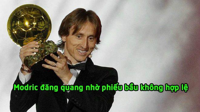 """KHÓ TIN: France Football khai khống; Luka Modric đoạt """"Quả bóng Vàng"""" từ phiếu bầu giả mạo?"""