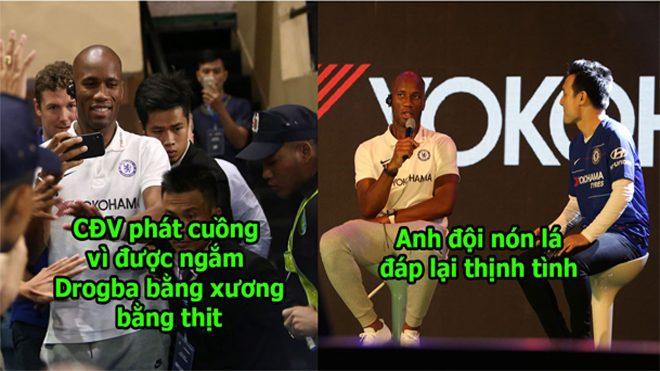 CHÙM ẢNH: Huyền thoại Didier Drogba đặt chân đến Việt Nam, đội nón cổ vũ ĐTVN khiến ai cũng yêu mến