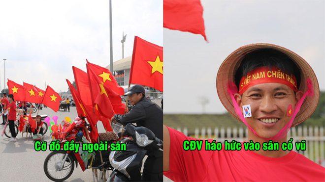 CHÙM ẢNH: CĐV Việt Nam nhuộm đỏ bên ngoài sân Mỹ Đình trước giờ đại chiến Philippines, đội bạn đã sợ chưa?