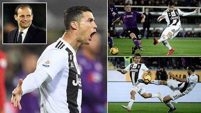 Ronaldo dứt điểm phũ phàng, Juventus khiến Fiorentina muối mặt ngay trên sân nhà Artemio Franchi
