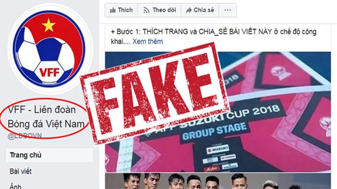 Xuất hiện facebook giả mạo Liên đoàn BĐVN tặng vé trận bán kết lượt về, CĐV phải thật tỉnh táo để không mắc bẫy