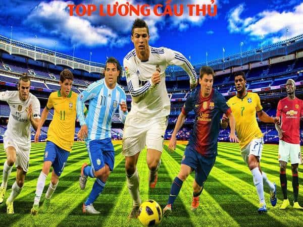 Top 10 cầu thủ lương cao nhất thế giới