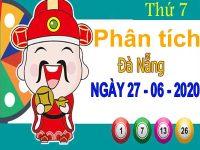 Phân tích XSDNG ngày 27/6/2020 – Phân tích xổ số Đà Nẵng thứ 7