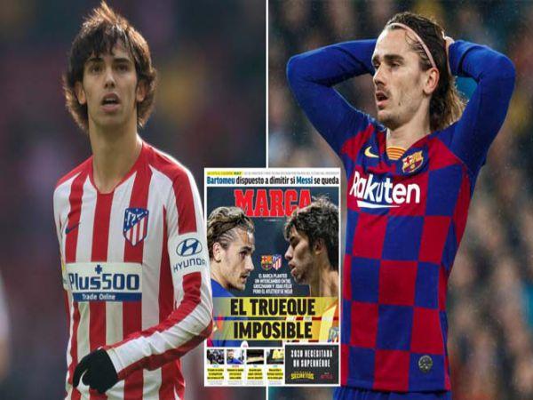 Chuyển nhượng chiều 28/8: Barca muốn đổi Griezmann lấy Felix