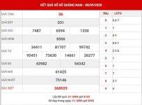 Phân tích xổ số Quảng Nam thứ 3 ngày 15-9-2020