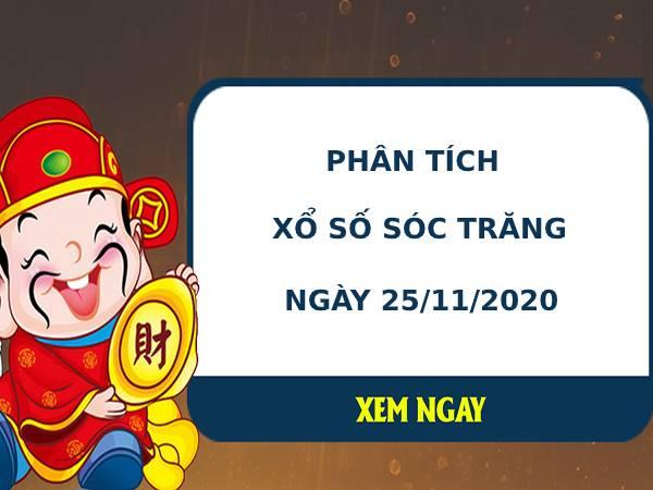 Phân tích kết quả XS Sóc Trăng ngày 25/11/2020