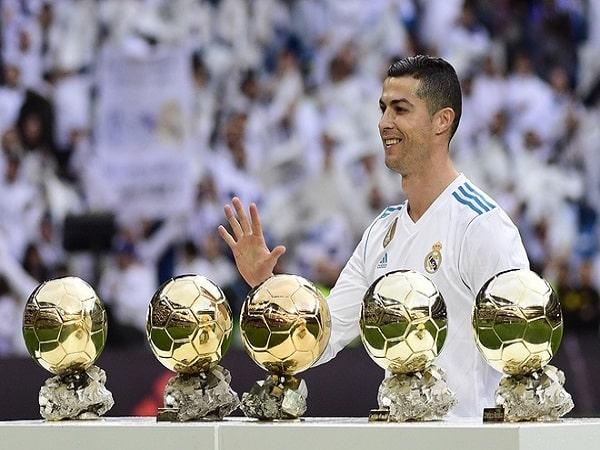 Ronaldo có bao nhiêu quả bóng vàng trong sự nghiệp