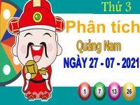 Phân tích XSQNM ngày 27/7/2021 – Phân tích KQ xổ số Quảng Nam thứ 3