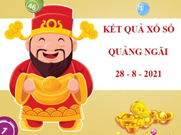 Phân tích xổ số Quảng Ngãi thứ 7 ngày 28/8/2021