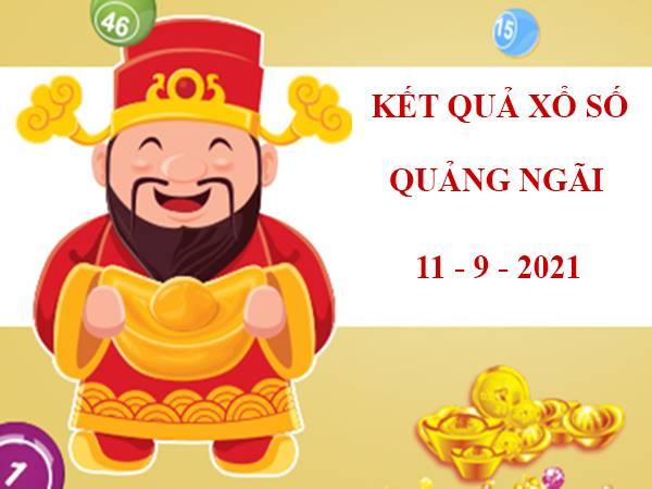 Phân tích KQXS Quảng Ngãi thứ 7 ngày 11/9/2021